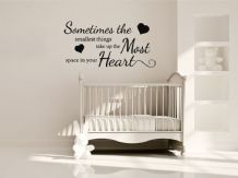 "Child's Wall Quote ""Sometimes the smallest things.."" Wall Art Sticker, Decal."